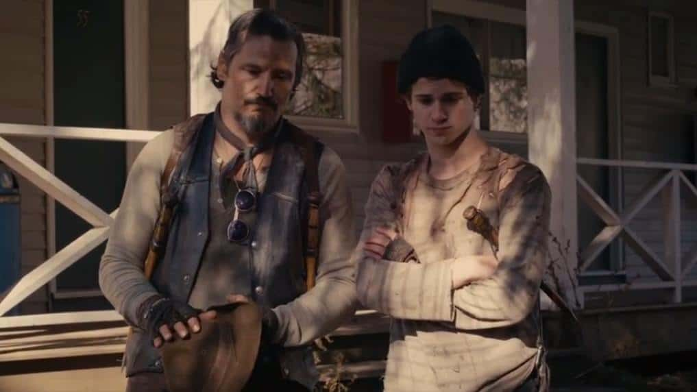 Nick Damici and Connor Paolo as Mister and Martin in Stake Land