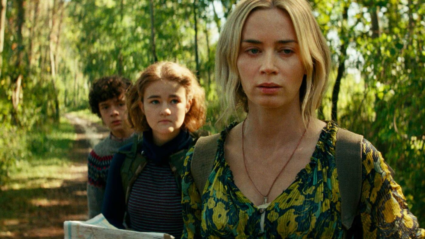 Emily Blunt and family in A Quiet Place Part II