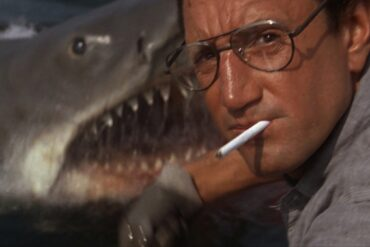 Chief Brody chomps a cigarette in Jaws